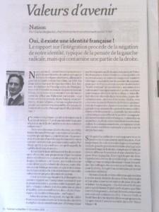 Tribune Valeurs actuelles 19-12-2013