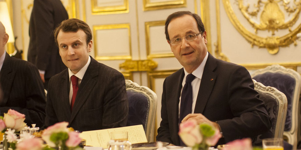 Elysee : Petit dejeuner avec des representants de la Table Ronde des Industriels Europeens
